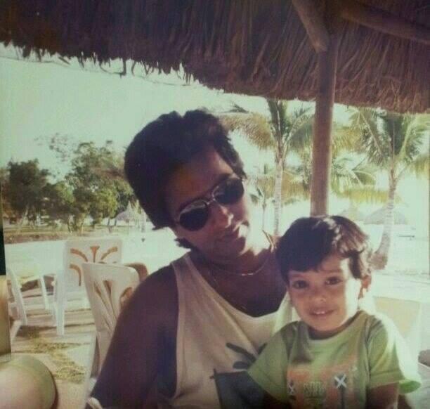 with Son Adnan Mauritius 1991