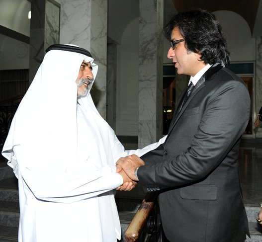 With His Excellency Sheikh Al Nahyan Bin Mubarak Al Nahyan Hon. Cabinet Minister of Culture & Knowledge Development UAE 2012
