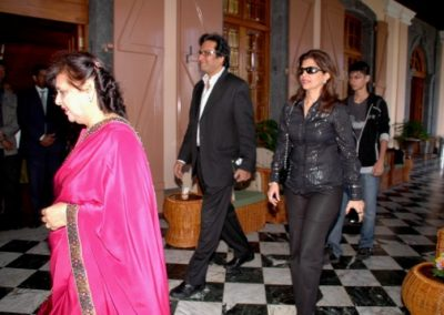 First Lady , Me , Bins , Shayu in the Presidential Residence