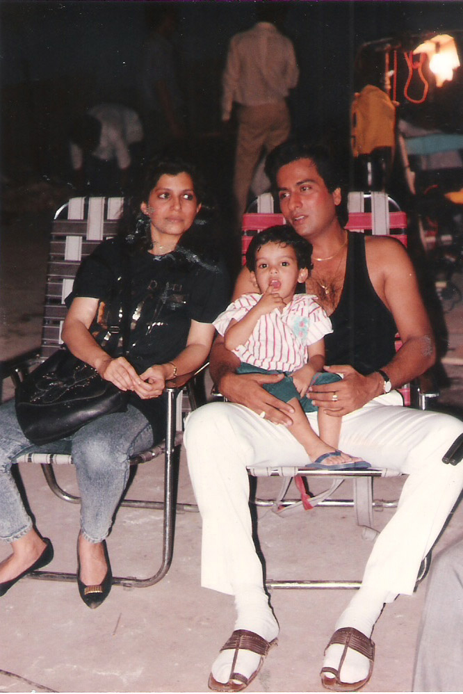 On The Sets of Dhun with Bina Aziz and Son Adnan 1991