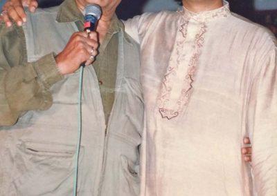 "with Late Amrish Poori at launch of album ""Mehboob"" 1997 Hyderabad at Falaknuma Palace"
