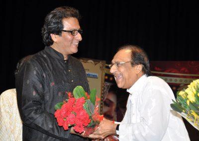 With Ustad Ghulam Ali Saheb 2011