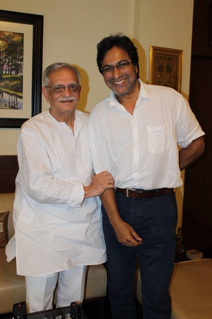 With Gulzar Saheb at his residence 2014