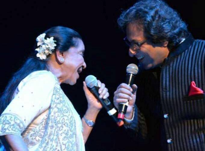 Jamming with Asha ji ICONIC Tour USA 2015