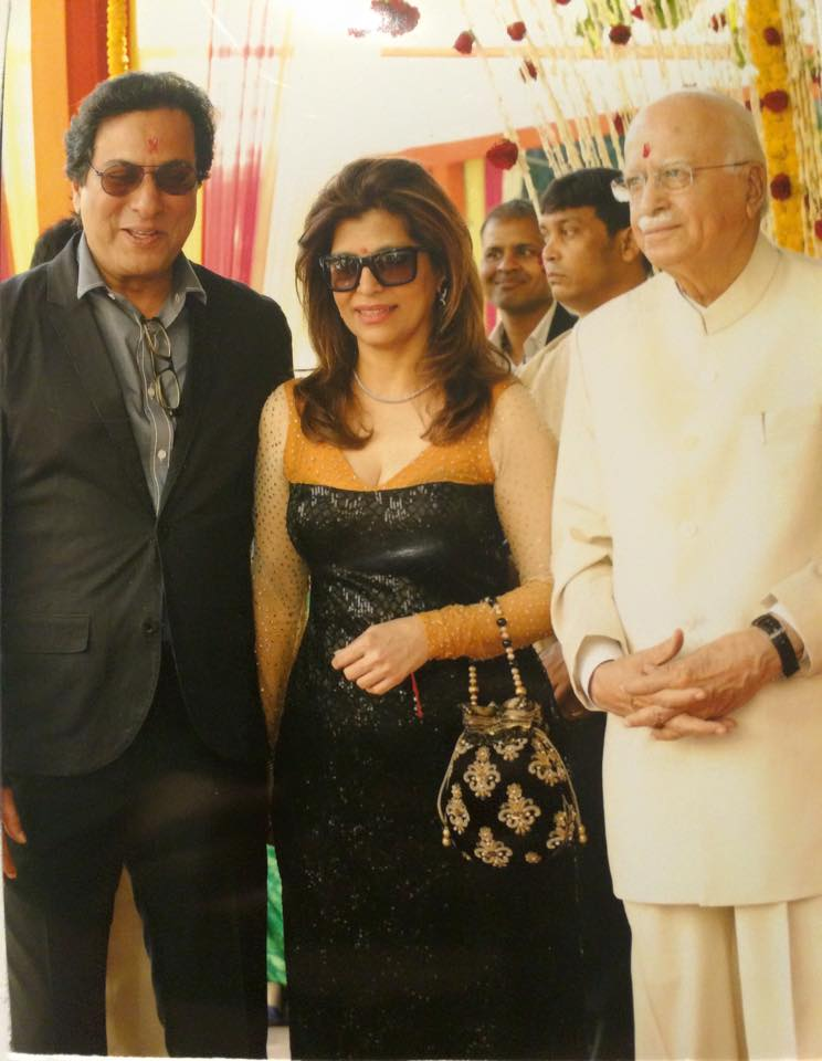 With Shri L.K. Advani and Bina Aziz 2014