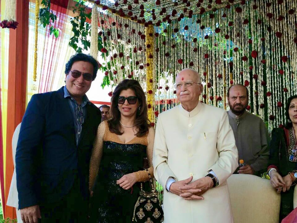 with Talat Aziz and Bina Aziz with Shree L.K. Advani at his residence 2015