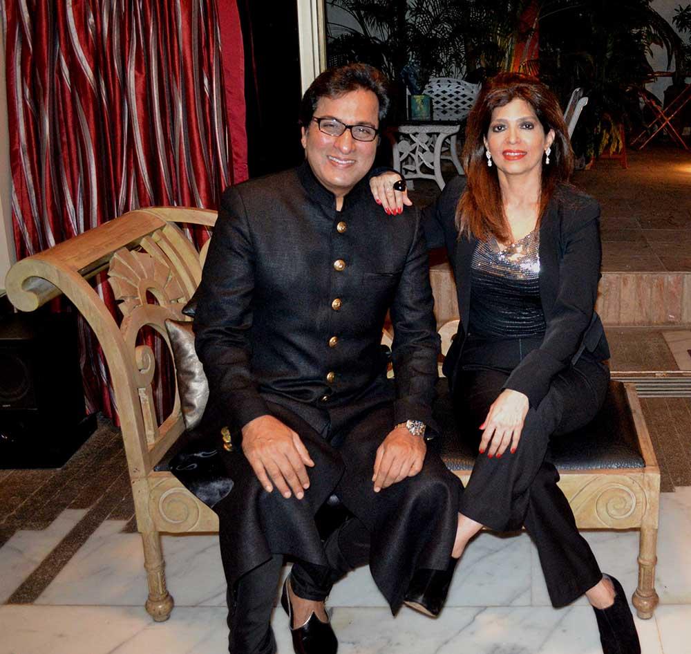 With Bina Aziz at home 2014