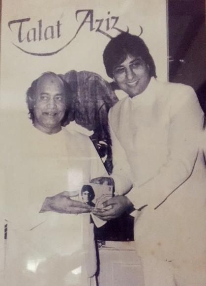 With Ustad Mehdi Hasan 1986