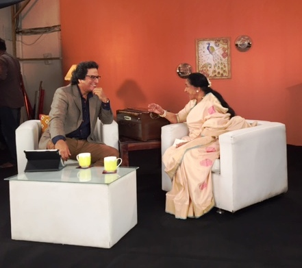 Interview with Asha Bhosale ji for Zee TV USA