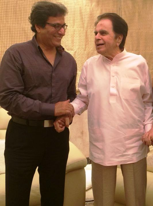 With the Legendary thespian Dilip Kumar 2014