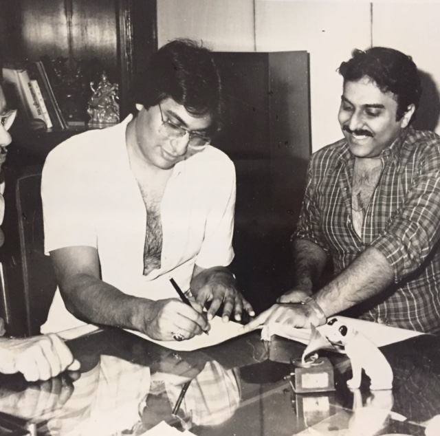 With Sanjeev Kohli signing the contract with HMV 1984